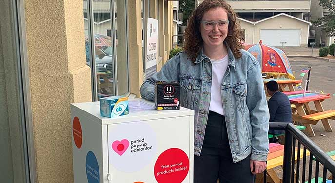 Community-minded student creates Period Pantry for those in need